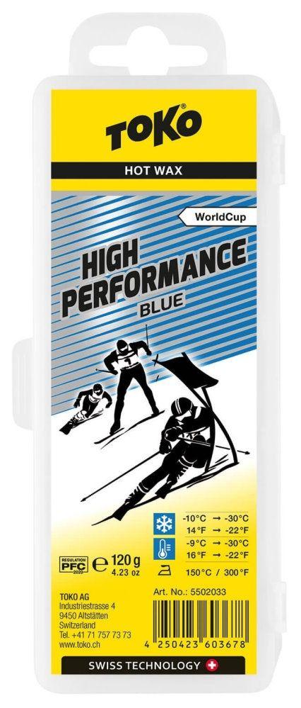 """TOKO Heißwachs """"HIGH PERFORMANCE"""", blue - 120g"""