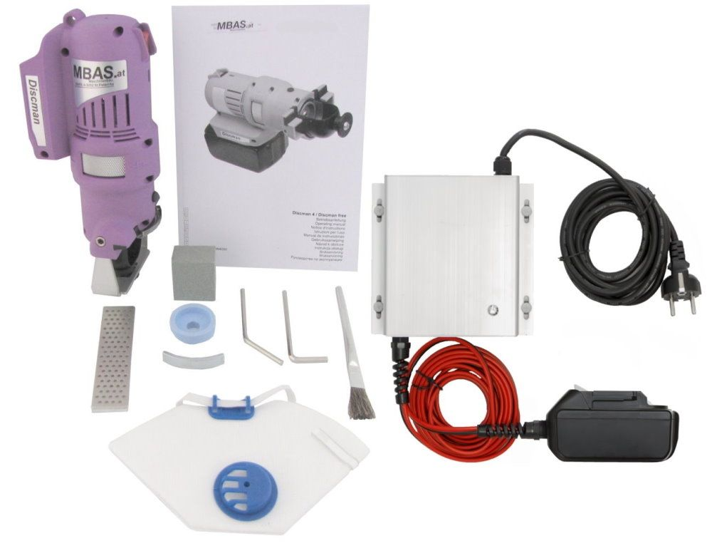 "MARC® Kantenschleifmaschine ""MBAS Discman 4.1"" - Profi-Set 230V"