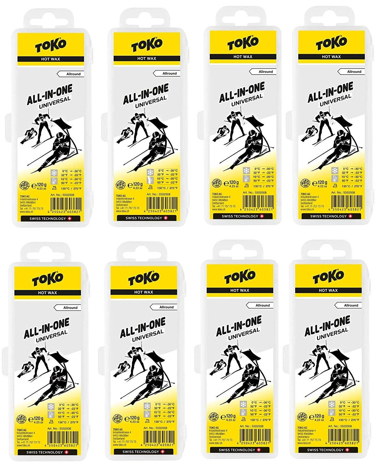 """TOKO HydroCarbon-Wax """" All-in-one"""" - 8er Pack"""