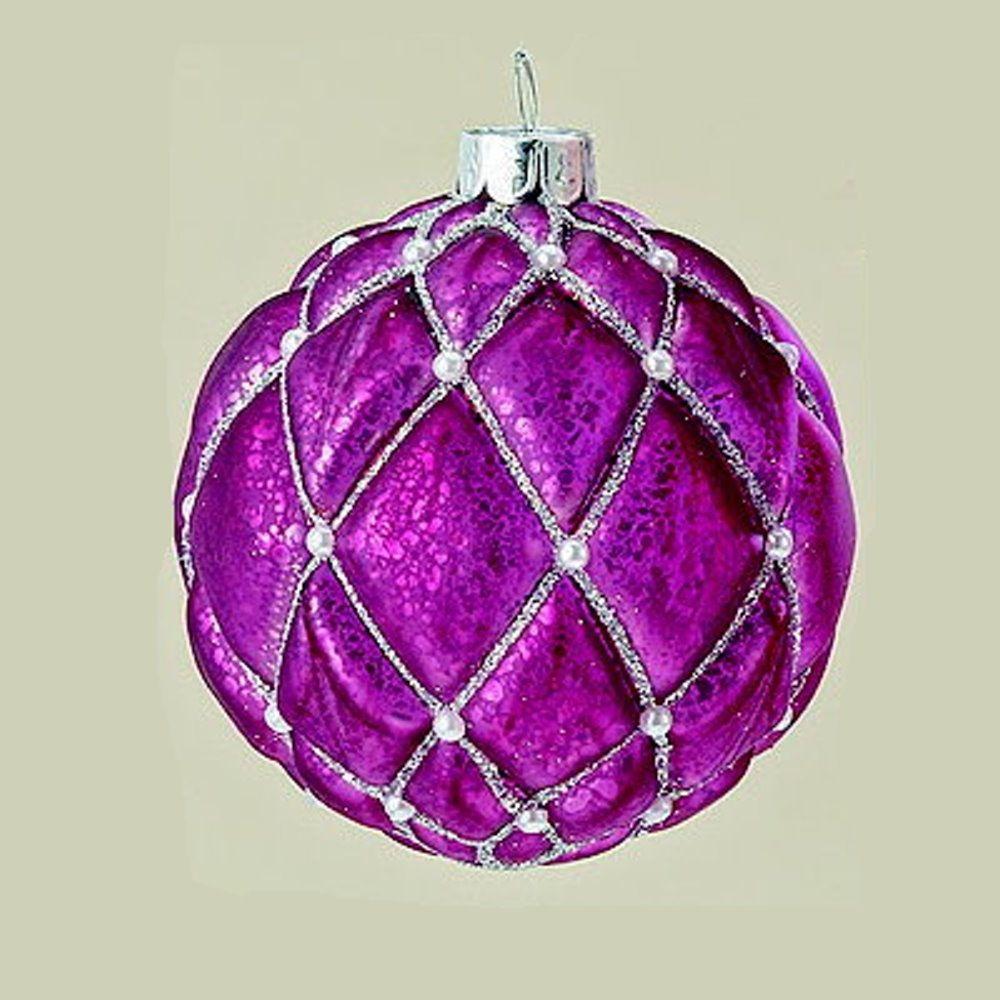 """MARC® Christbaumkugel Weihnachtskugel """"SARINA"""", Glas, pink #01"""