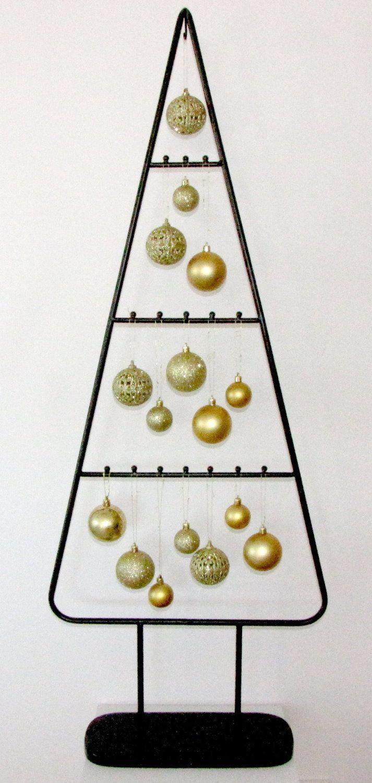 MARC® Weihnachtsbaum Christbaum Dekobaum, schwarz mit goldenen Kugeln