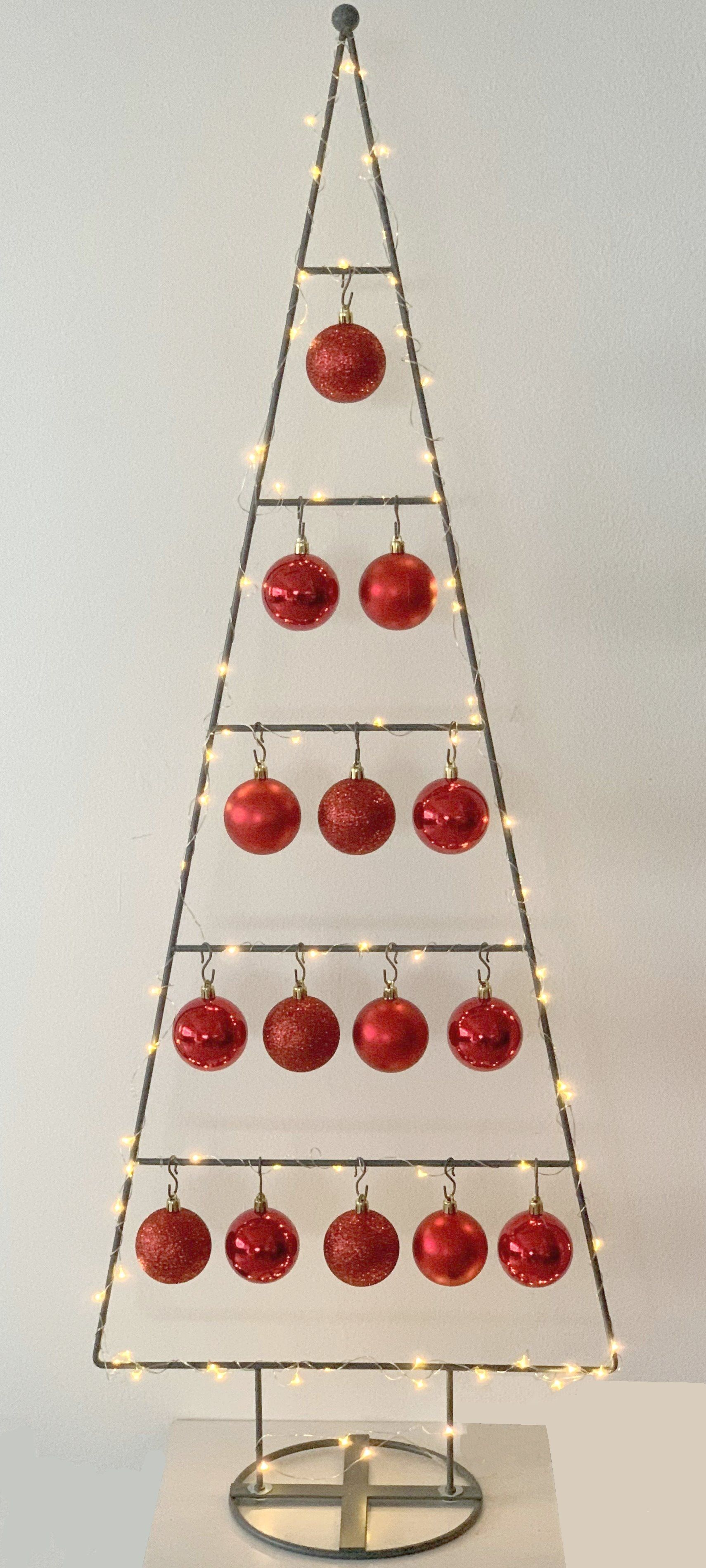MARC® Weihnachtsbaum Christbaum Dekobaum TRIDENT, rot - 114cm