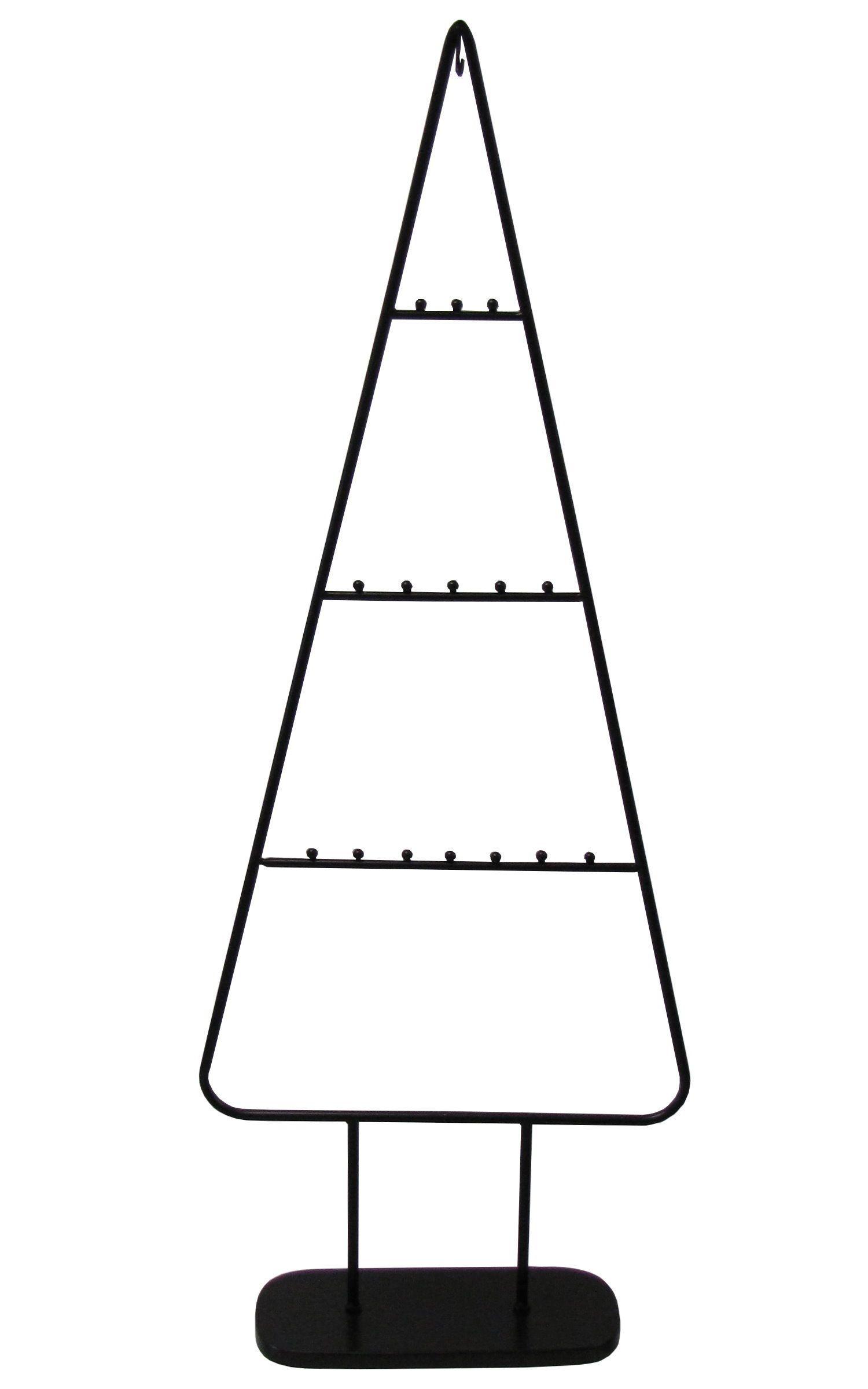 """MARC® Weihnachtsbaum Christbaum Metall """"Noir"""" pulverbeschichtet schwarz 111cm"""