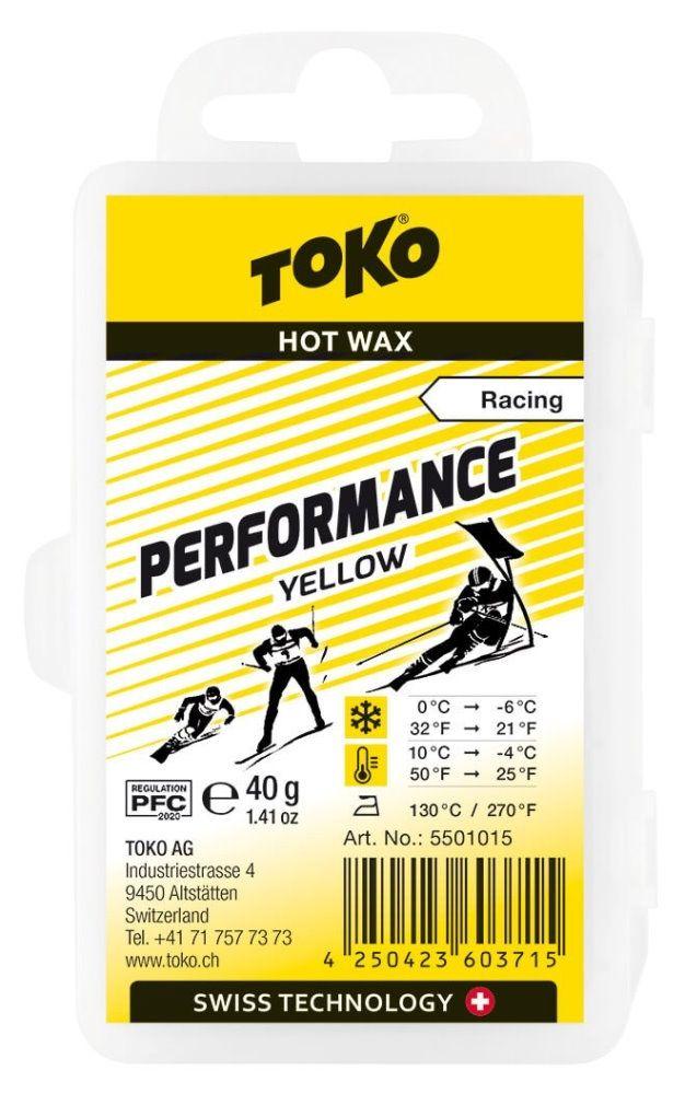 "TOKO Heißwachs ""PERFORMANCE"", yellow - 40g"